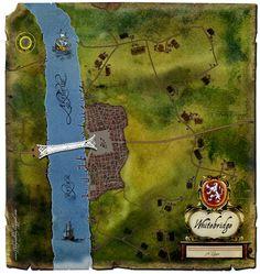 Robert Jordan Wheel of Time map: The Thirteenth Depository - A Wheel of Time Blog: The Eye of the World Read-Through #10 - Whitebridge Map