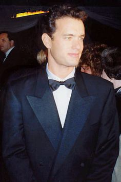 Tom Hanks at Governor's Ball party after the 1989 Academy Awards, March 29th, 1989. Cropped from original. Found on Wikipedia. Age 33