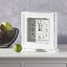 #zegar #clock #watch #decoration #dekoracje  Zegar SHABBY 25x6x25cm, 25x6x24,5cm - Dekoria