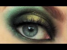 Beautiful green and gold look.