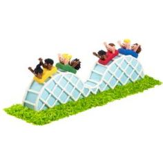 Capture the excitement of every summer amusement park with this amazing rollercoaster cake.