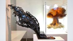 Splash   Peak Oil - Eyal Gever. An artist that works with 3D simulations and algorithms to create through 3D printers, real life sculptures of moments in time. Many of them disastrous, to show that there is beauty in everything. Amazing work!
