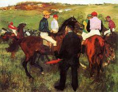 Edgar Degas - Racehorses at Longchamp (1875)