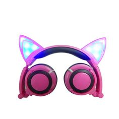Cute fold-able headphone, gaming headset, with LED light, , for PC , Laptop, mobile phone. Please allow 15 - 30 days for item to arrive.