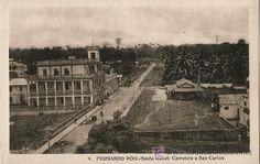 Tarjeta Postal de Fernando Poo (Guinea Española) - Santa Isabel, Carretera a San Carlos - Foto 1