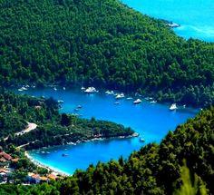 Heart Bay..(Panormos) in Skopelos Island, Greece