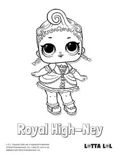 Royal High Ney Coloring Page Lotta LOL