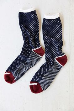 Birdseye Pattern Camp Sock - Urban Outfitters