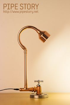 [COPPER PIPE LAMP] PIPE STORY Produce and sell genuine handmade industrial vintage style pipe lamps. South KOREA http://www.pipestory.net