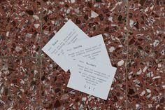 Thank you minimal wedding cards / Greek island wedding / Anafi wedding / lafetegr / event stationery