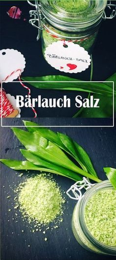 Wild garlic salt, so you have spring in your glass all year round - Bear& garlic is part of our good spring kitchen. This simple recipe shows you how you can use - Wild Garlic, Garlic Salt, Good Food, Yummy Food, Spices And Herbs, Party Buffet, Happy Foods, Kitchen Gifts, Food Blogs