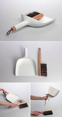 Sweeper and dustpan by Jan Kochanski