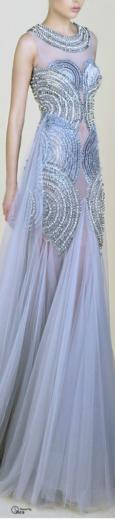 Wedding Style by cynthia reccord Blue Fashion, High Fashion, Fashion Fashion, Fashion Beauty, Beautiful Gowns, Beautiful Outfits, Beautiful Clothes, Saiid Kobeisy, Glamour