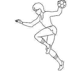 comment dessiner un handballeur | Dessin handball 2 a colorier