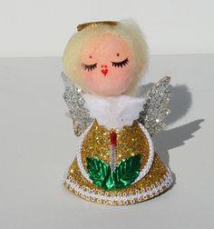 1950's Vintage Mid Century Christmas Angel Tree Ornament Decoration