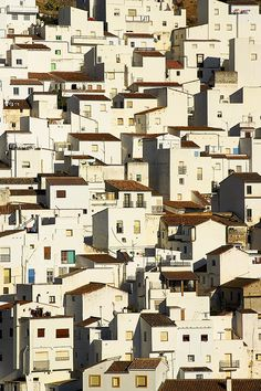 """Casares is one of the """"pueblo blancos"""" (white towns) of Andalucia in Southern Spain by pedro lastra Andalusia Spain, Spain And Portugal, White Houses, Anime Comics, Malaga, Historical Sites, Art And Architecture, Wonders Of The World, Nashville"""