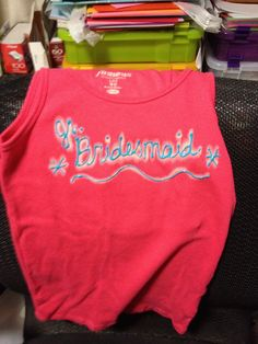 Shirts for bridesmaids. Made with bleach pen.