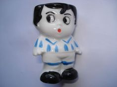 SCARCE C1930S VINTAGE FOOTBALLER CHARACTER EGG CUP in Collectables, Kitchenalia, Egg Cups | eBay