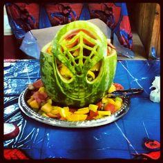 Spider-Man watermelon basket