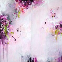 2 parts Original abstract painting modern art by ARTbyKirsten, €149.00