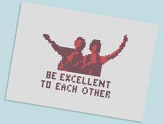 Bill & Ted x stitch