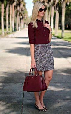 Falda gris