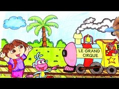 (1) Learn Colors for Kids and Color Dora the Explorer Coloring Pages | BirthdayCandyLand - YouTube
