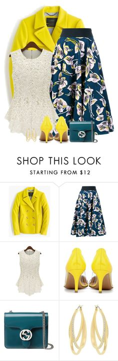 """""""it's friday"""" by divacrafts ❤ liked on Polyvore featuring J.Crew, Marni, Gianvito Rossi, Gucci, Swarovski and Original"""