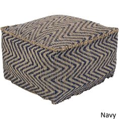 Add a splash of color and additional seating to your space with this zigzag pattern pouf. This piece creates an effortless, clean look that translates from space to space as either a decorative access
