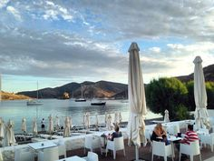 The beautiful view from Theion Bar , Patmos Aktis Suites & Spa,🇬🇷 New York Skyline, Chill, Cocktails, Spa, Relax, Summer, Travel, Beautiful, Craft Cocktails