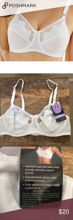 b5472d45adb68 Bali white comfort U flower underwire bra NWT Bali white comfort u flower  underwire 32C