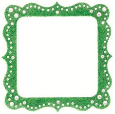 Scrapbooking Clearance > Artisan Square Green Glitter Bling Frame - Making Memories: A Cherry On Top