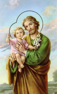 St. Joseph - Feastday: March 19 - Patron of the Universal Church, Carpenters, Fathers, Real Estate, Grace of a Happy Death, Workers, and More