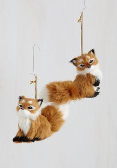 Forest to Arrive Ornament in Fox - Multi, Tan / Cream, Critters, Woodland Creature, Good, Holiday, Gifts2015
