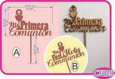 Cake topper Primera Comunión/First Holy Communion cake topper.  -Pedidos/Inquiries to: crearcjs@gmail.com