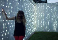 Back yard sparkly lights