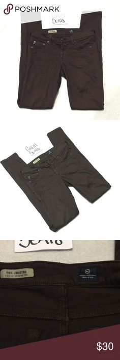 AG ADRIANO GOLDSCHMIED THE JEGGING SUPER SKINNY 27 AG MARRON JEANS SIZE 27R JEGGING SUPER SKINNY••CHECK OUT MY OTHER ITEMS NAME BRAND JEANS AND CLOTHING BUNDLE AND SAVE ••• AG Adriano Goldschmied Jeans Skinny