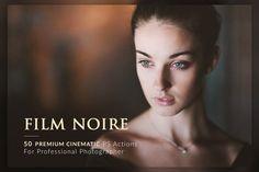 cool 50 Film Noire PS Actions Bundle  CreativeWork247 - Fonts, Graphics, Th...