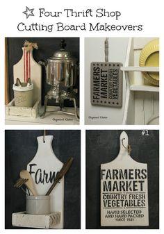 Four Thrift Shop Cutting Board Makeovers! via OrganizedClutter.net