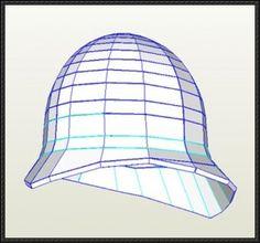 Victorian Pith Helmet Papercraft Free Pepakura Download