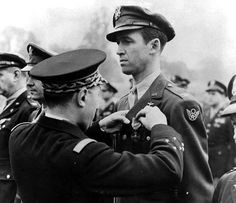 Jimmy Stewart goes from Private to Colonel during WWII leading bombing raids