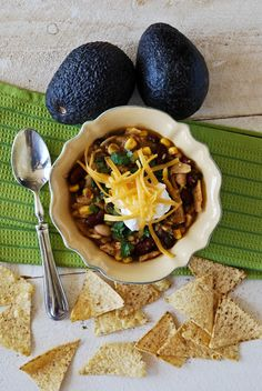 Chicken and Bean Chili Verde-warm, comforting and delicious