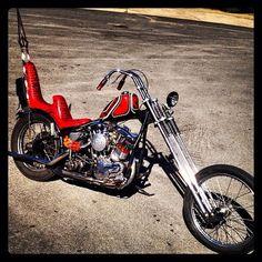 Cool old shovel, let's ride