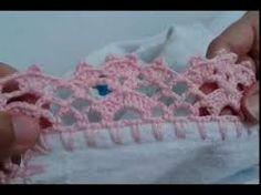 Resultado de imagem para toalha com barrado de croche