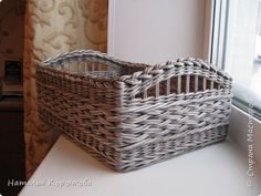 Поделка изделие Плетение Шитьё Корзинка для сушеных трав и еще кое-что Салфетки Ткань Трубочки бумажные фото 6