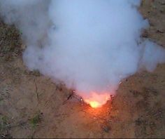 This homemade smoke bomb is easy to make and only requires two ingredients.