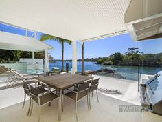 Waterfront Modern Villa For Perfect Summer, Noosa Heads, Australia Outdoor Areas, Outdoor Tables, Outdoor Decor, Small Places, Us Beaches, Beach House, Home Goods, Outdoor Furniture Sets, Villa