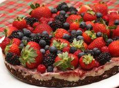 Torta Brownie de Frutas Vermelhas