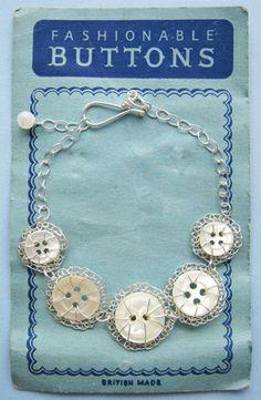 New design! Vintage five button bracelet. Judith Brown Jewellery