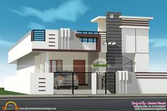 Latest Indian Single Storey House Elevation Designs Home Design And Floor Plans Small Budget House Design Ideas Powerpoint 2016 Missing Single Floor House Design, House Front Design, Small House Design, Cool House Designs, Village House Design, Kerala House Design, Independent House, Front Elevation Designs, House Elevation